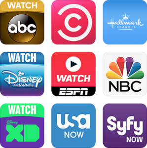 TV Everywhere channel icons