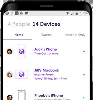 Astrea Juice parental controls smartphone app screen